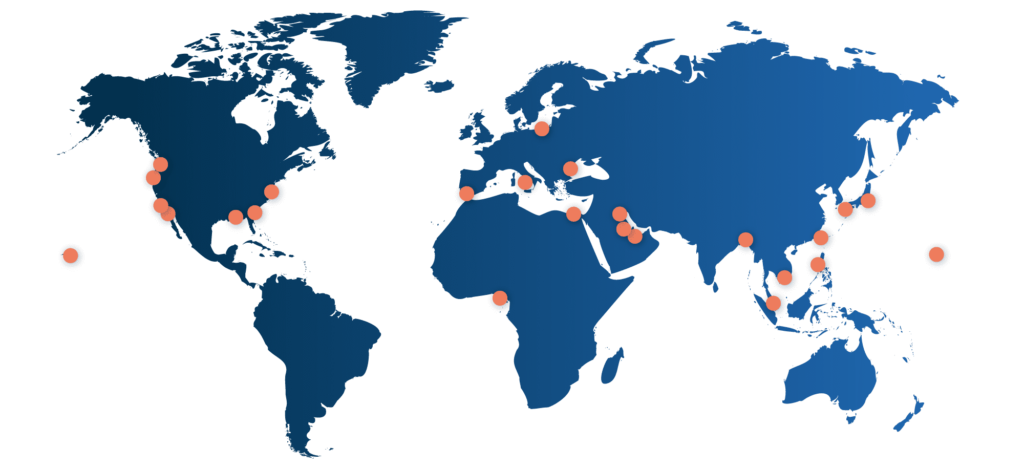 Map of T-Solutions locations
